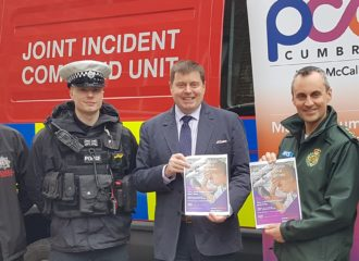 Peter McCall Joins with Crimestoppers 'No Mobile When Mobile' campaign to highlight the Dangers of Using a Mobile Phone When Driving