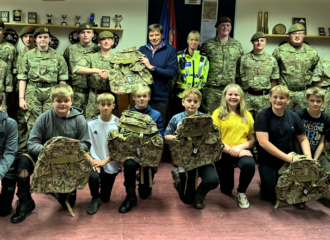 Proceeds of Crime Return to the Community – Peter McCall Visits Penrith Army Cadets