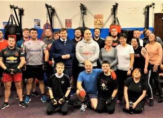 Commissioner Steps Into The Ring at Wilter's Boxing Club, Maryport